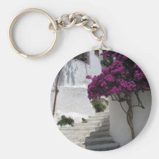 Skopelos, Greece Basic Round Button Key Ring