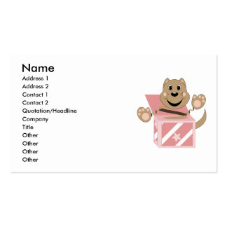 Skrunchkin Cat Chip In Pink Box Business Card Templates