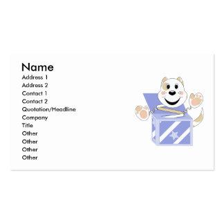 Skrunchkin Cat Elliot In Blue Box Business Card Template