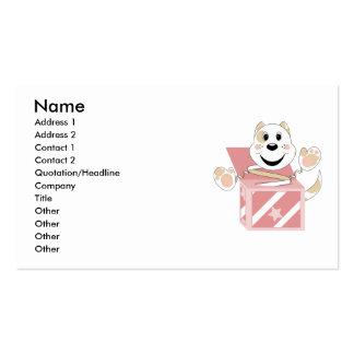 Skrunchkin Cat Elliot In Pink Box Business Card Templates