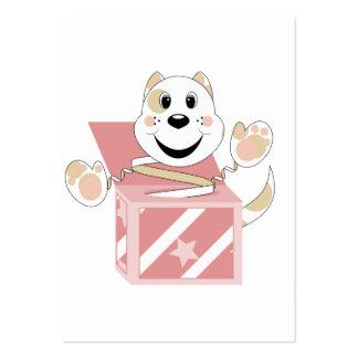 Skrunchkin Cat Elliot In Pink Box Business Card Template