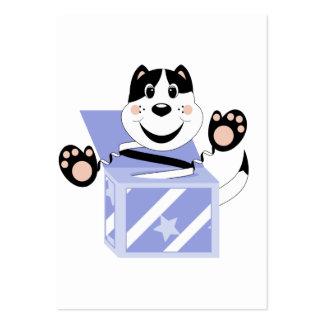 Skrunchkin Cat Mittens In Blue Box Business Cards