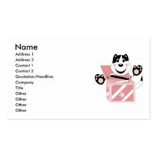 Skrunchkin Cat Mittens In Pink Box Business Cards