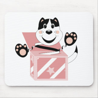 Skrunchkin Cat Mittens In Pink Box Mouse Pads
