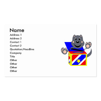 Skrunchkin Cat Smokey In Colorful Box Business Card Templates