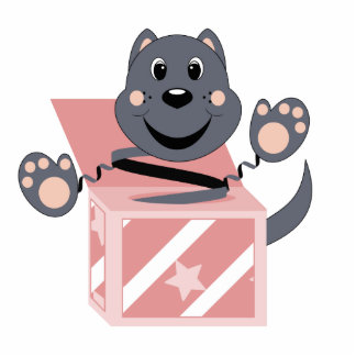 Skrunchkin Cat Smokey In Pink Box Photo Cutouts