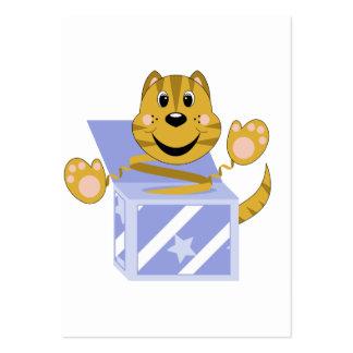 Skrunchkin Cat Toby In Blue Box Business Card Template