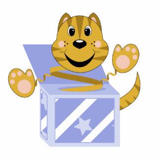 Skrunchkin Cat Toby In Blue Box Acrylic Cut Out