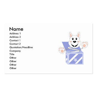 Skrunchkin Rabbit Cotton In Blue Box Business Card Template