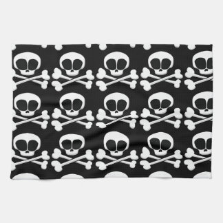skull005_92007 SKULL CROSSBONES SYMBOL GANGSTER EM Kitchen Towels