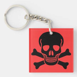 skull 01 Double-Sided square acrylic key ring