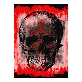 Skull 14 Cm X 19 Cm Invitation Card