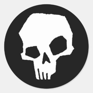 Skull 24 round stickers