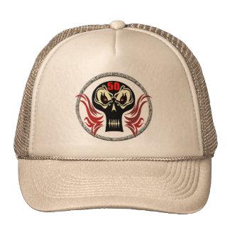 Skull 50th Birthday Gifts Cap