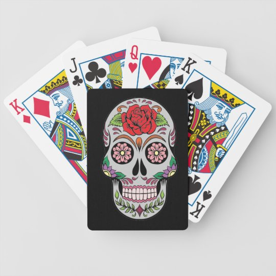 Skull 5 bicycle playing cards