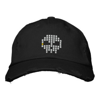 Skull 8 - Bit Embroidered Hats