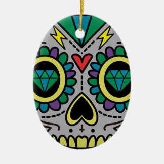 Skull Abstract Ceramic Ornament