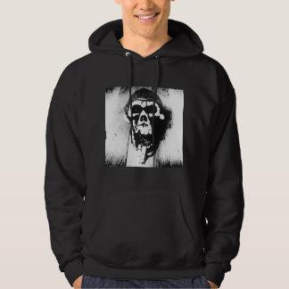 """Skull"" Abstract Graphic Hoodie w/ Cirobb Logo"