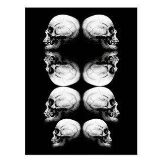 Skull Advanced Profile Dark Protect Postcard