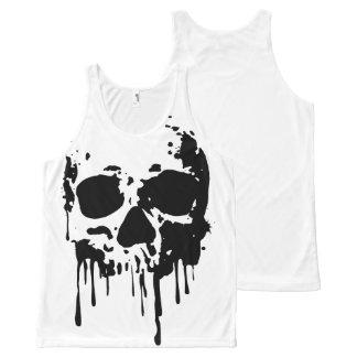 skull All-Over print singlet
