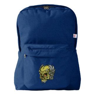 Skull American Apparel™ Backpack, Navy Backpack