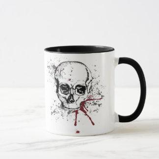Skull and blood mug