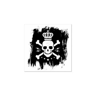 Skull and blood rubber stamp