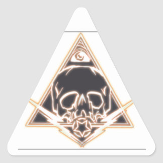 skull and bolts triangle sticker