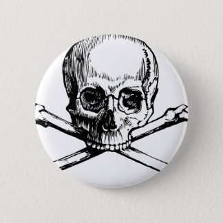 Skull and Bones 6 Cm Round Badge