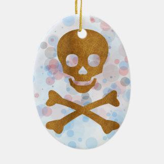Skull and Bones Ceramic Ornament