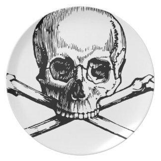 Skull and Bones Dinner Plate