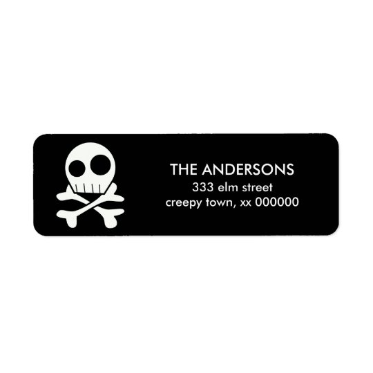Skull and Bones Halloween Labels