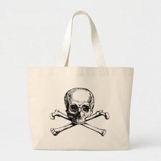Skull and Bones Large Tote Bag