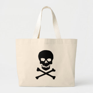 skull and bones large tote bag