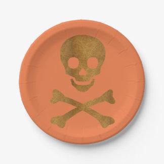 Skull and Bones Paper Plate