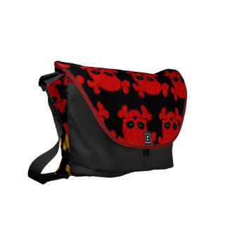 Skull and Bones Pattern Commuter Bags