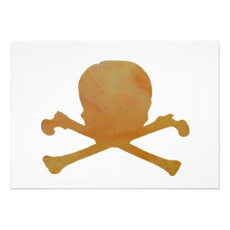 Skull and bones photo print