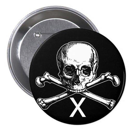 Skull and Bones Pin