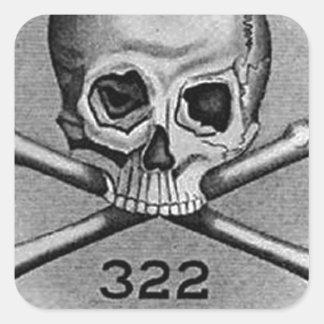 Skull and Bones Secret Society Illuminati Stickers