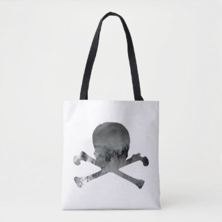 Skull and bones tote bag