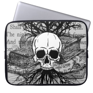 Skull and Books Laptop Sleeve