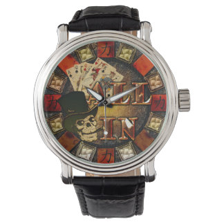 Skull and Cigar All In Wristwatches