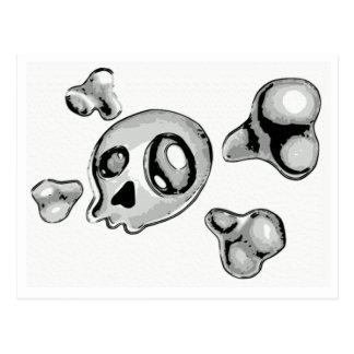 Skull and Cross Bones Postcard