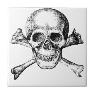 Skull and Cross Bones Small Square Tile