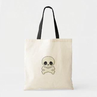 skull and cross bones tote tote bag
