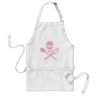 Skull and Cross Whisk Pink Standard Apron
