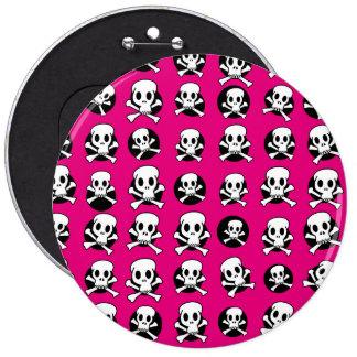 Skull and CrossBone 6 Cm Round Badge