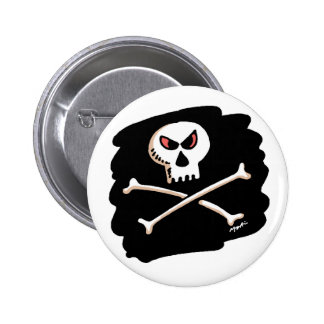 Skull and crossbone button
