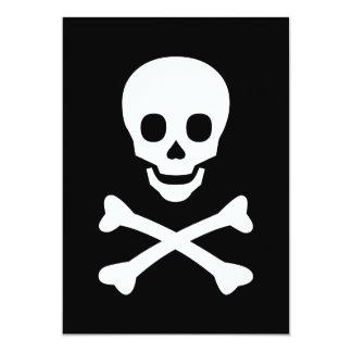 Skull and Crossbones 13 Cm X 18 Cm Invitation Card