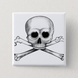 Skull and Crossbones 15 Cm Square Badge